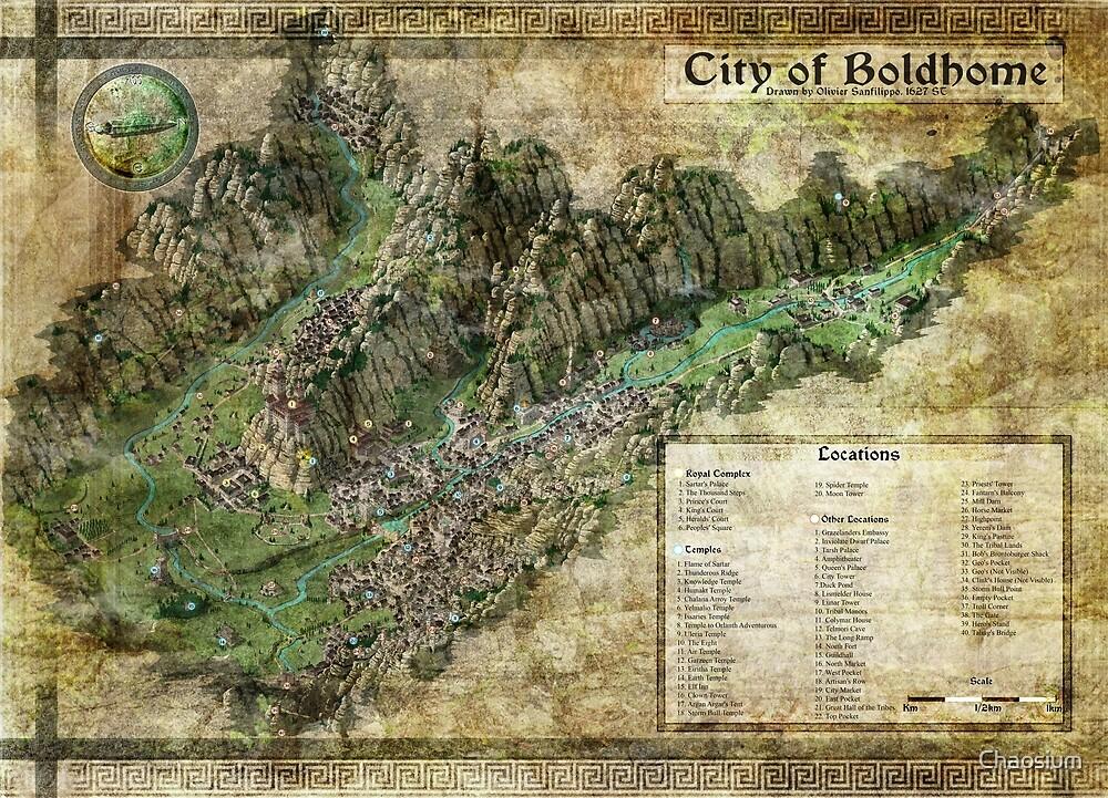 Stadt von Boldhome Map von Olivier Sanfilippo von Chaosium