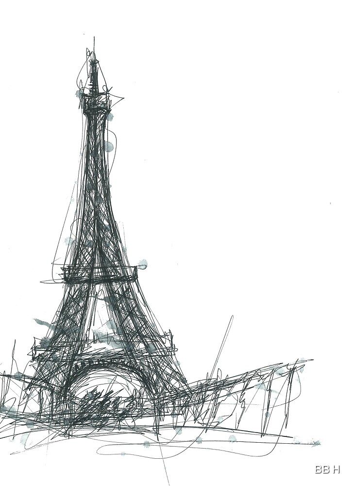 Quot Eiffel Tower Sketch Quot By Bb H Redbubble