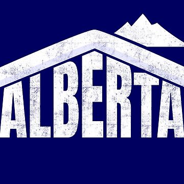 Alberta T-Shirt Canada Skiing Souvenir Rocky Mountains  by peter2art