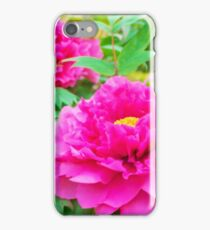 Red flowers of Peony iPhone Case/Skin