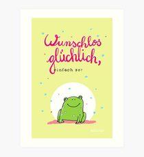 Frosch Glück Kunstdruck