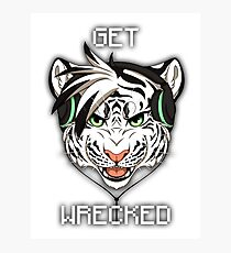 GET WRECKED - White Tiger Photographic Print