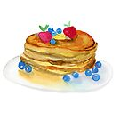 Watercolor Pancakes by daphsam