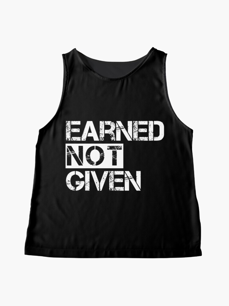 Alternate view of  Fitness Earned Not Given Sleeveless Top