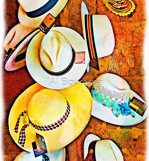 Panama Hats At San Blas by Al Bourassa