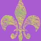 Mardi Gras Party Fleur de Lis by Annette Marionneaux Stevenson