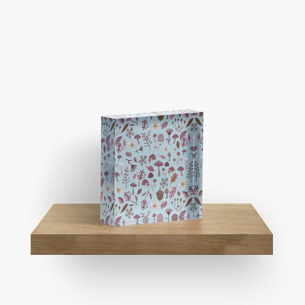 woodland winter pattern Acrylic Block