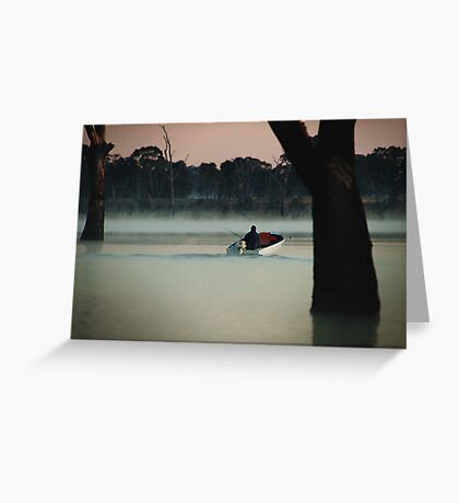 Heading Out,Going Fishing,Lake Fyans Greeting Card