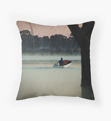 Heading Out,Going Fishing,Lake Fyans Throw Pillow