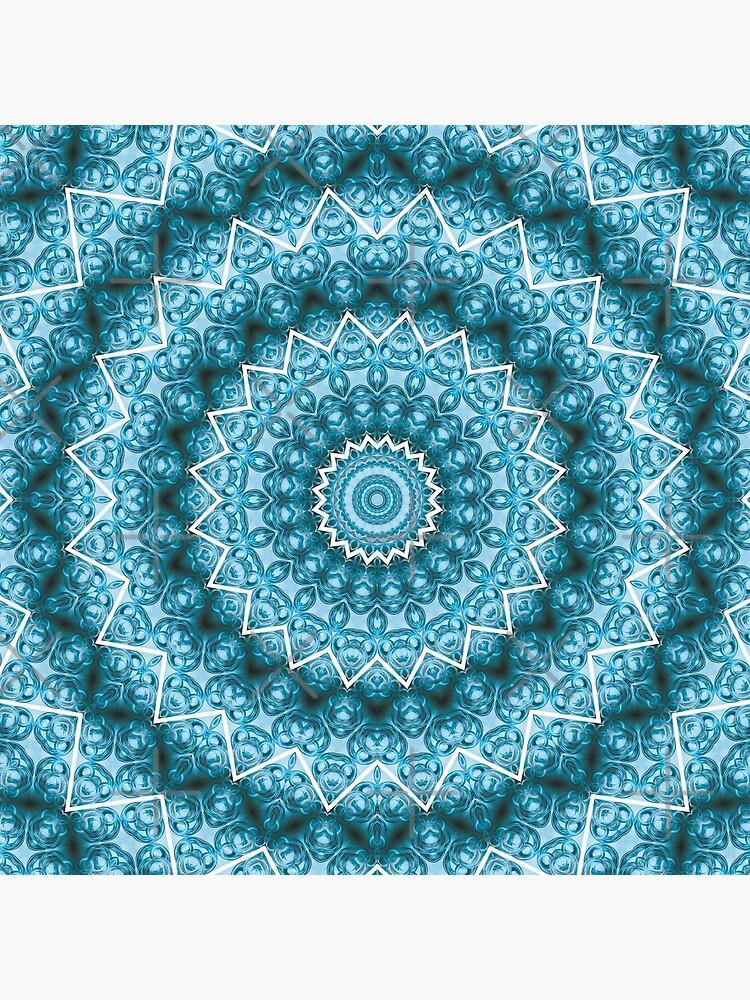Hellblaues Kaleidoskop / Mandala von pASob-dESIGN