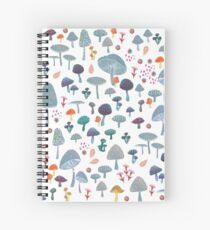 scattered mushroom pattern Spiral Notebook