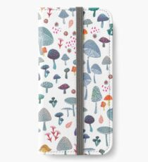 scattered mushroom pattern iPhone Wallet/Case/Skin