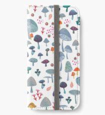 scattered mushroom pattern iPhone Wallet/Case/Skin
