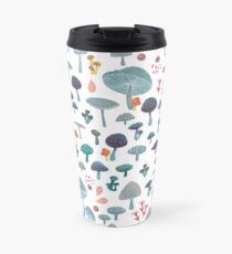 scattered mushroom pattern Travel Mug