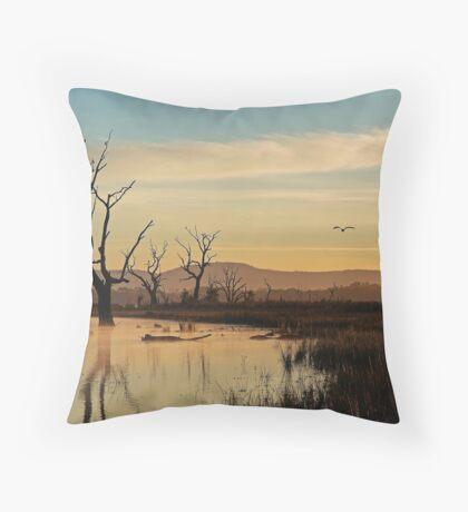 Flight, Lake Fyans, Grampians Throw Pillow