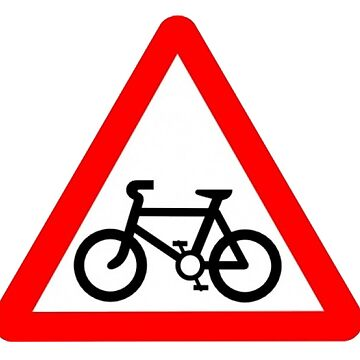 Bicycle Warning sign. by timothybeighton