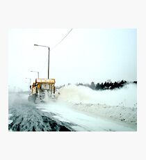 Behind a Snowplow Photographic Print