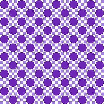 Circles and squares mosaic pattern purple by aapshop
