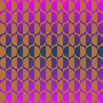 Retro circles magenta, purple, blue, brown by aapshop