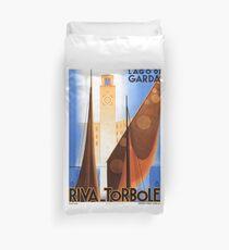 Lake Garda Italy Vintage Poster Restored Duvet Cover