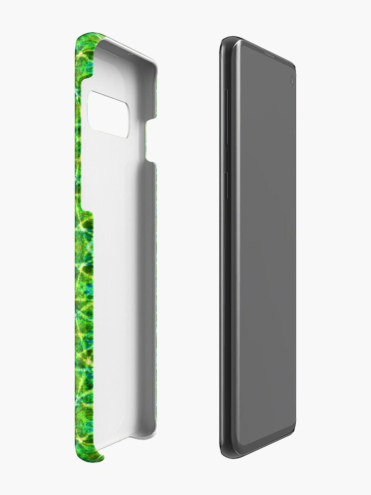 Alternative Ansicht von Grünes Netz Kaleidoskop Hülle & Klebefolie für Samsung Galaxy