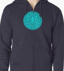 'A' [Light Blue] by Chillee Wilson Zipped Hoodie
