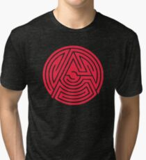 'A' [Red] by Chillee Wilson Tri-blend T-Shirt