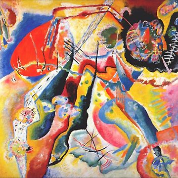 Wassily Kandinsky Painting with red spot (1914). by TOMSREDBUBBLE