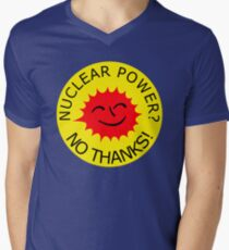 Nuclear Power No Thanks by Chillee Wilson Men's V-Neck T-Shirt