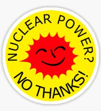 Nuclear Power No Thanks by Chillee Wilson Sticker