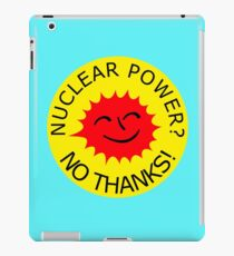 Nuclear Power No Thanks by Chillee Wilson iPad Case/Skin