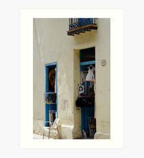 Art & gift shop, Havana, Cuba Art Print