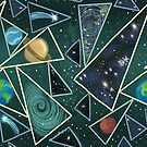 Space and planets pattern by Matt Corrigan