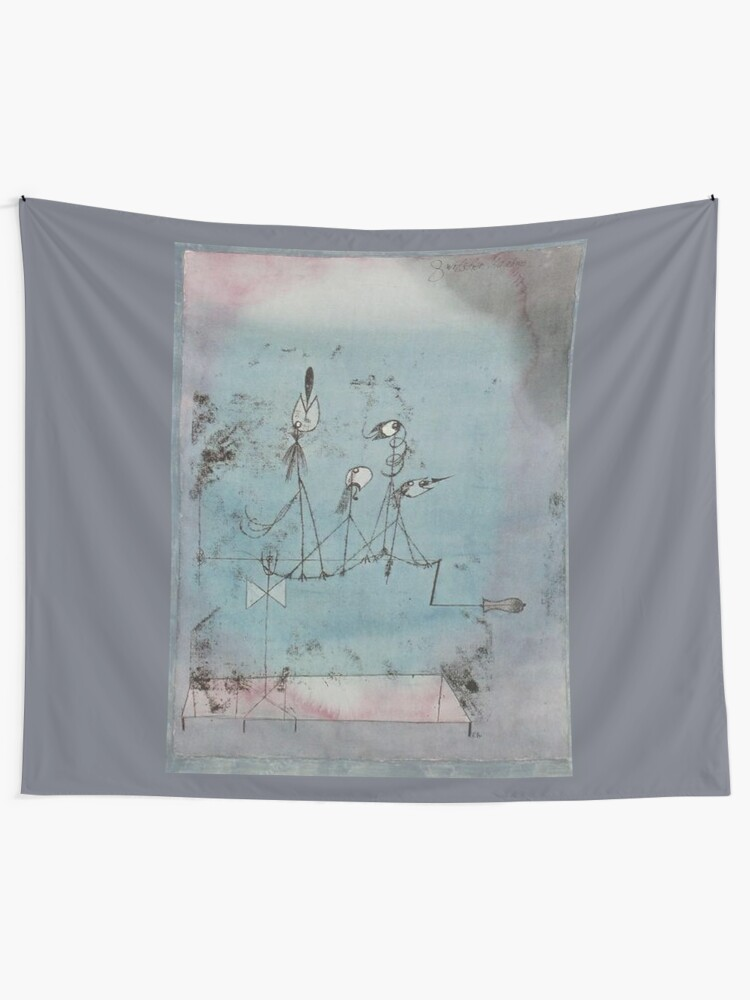 Twittering Machine >> Paul Klee Twittering Machine Wall Tapestry By Tomsredbubble