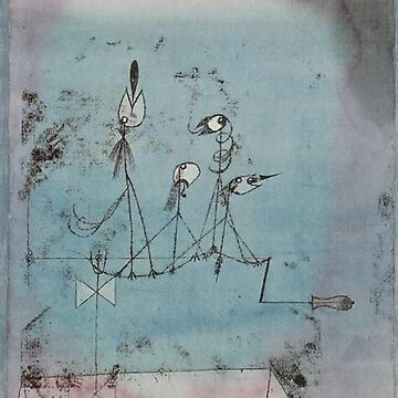 Paul Klee, Twittering Machine by TOMSREDBUBBLE