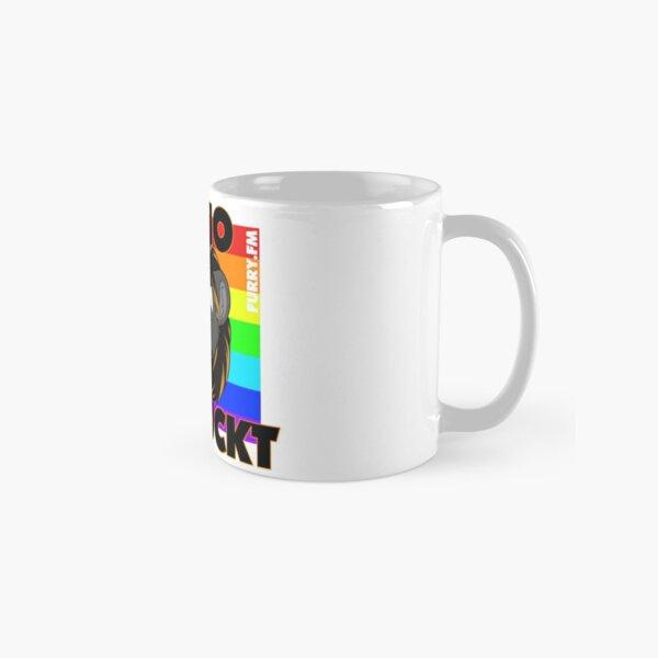 Radio verrückt Regenbogen Tasse (Standard)