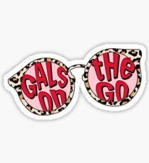 Gals On The Go Sunglasses Sticker Sticker