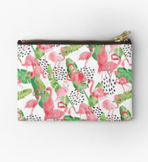 Flamingo Paradise Zipper Pouch