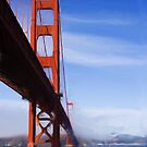 Golden Gate Bridge as pseudo oil painting by Sue Leonard