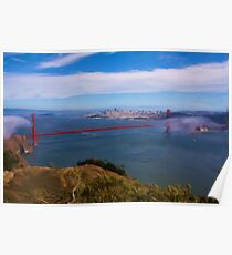 Golden Gate Bridge as pseudo oil painting Poster