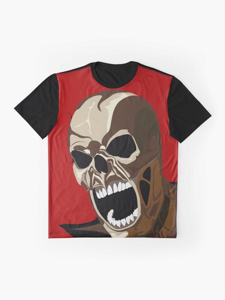 Alternative Ansicht von Screaming ZOMBIE Grafik T-Shirt