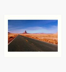 The NeverEnding Road as pseudo oil painting Art Print