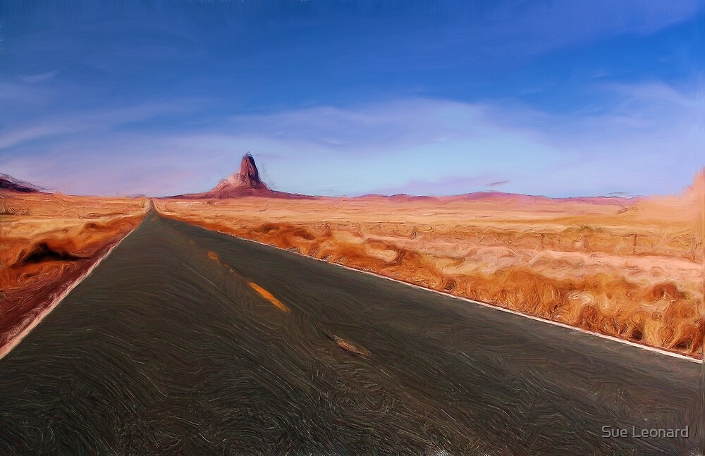 The NeverEnding Road as pseudo oil painting by Sue Leonard