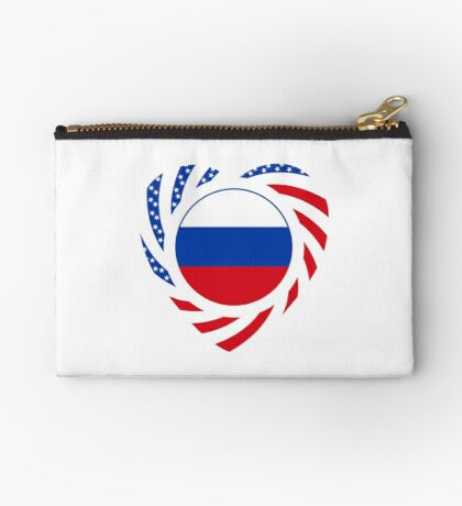 Russian American Multinational Patriot Flag Series 2.0 Zipper Pouch