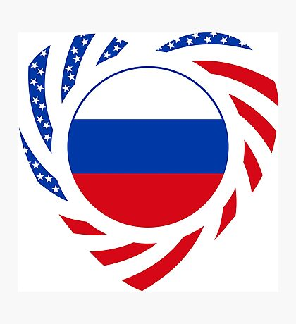 Russian American Multinational Patriot Flag Series 2.0 Photographic Print