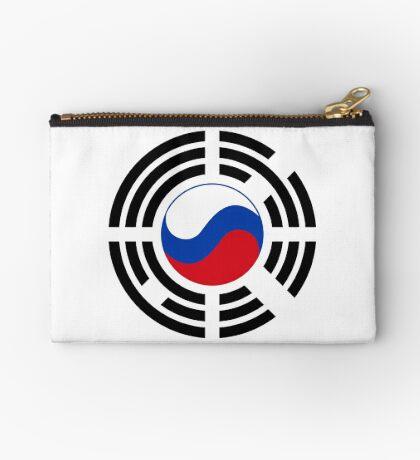 Korean Russian Multinational Patriot Flag Series Zipper Pouch