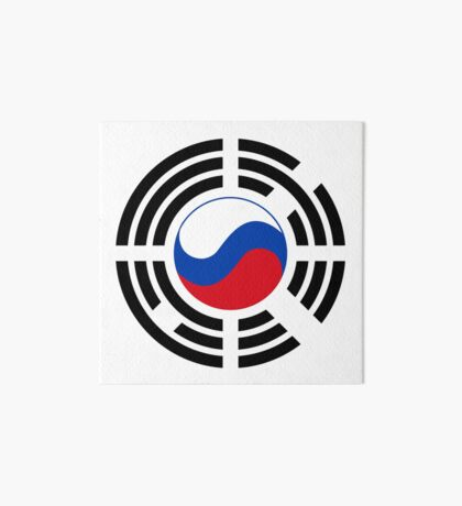 Korean Russian Multinational Patriot Flag Series Art Board Print