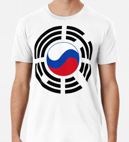 Korean Russian Multinational Patriot Flag Series Premium T-Shirt