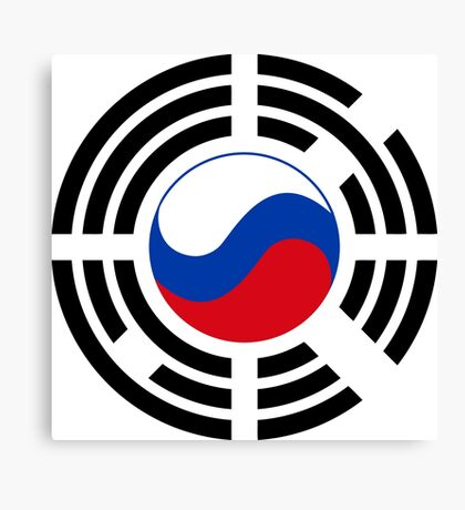 Korean Russian Multinational Patriot Flag Series Canvas Print