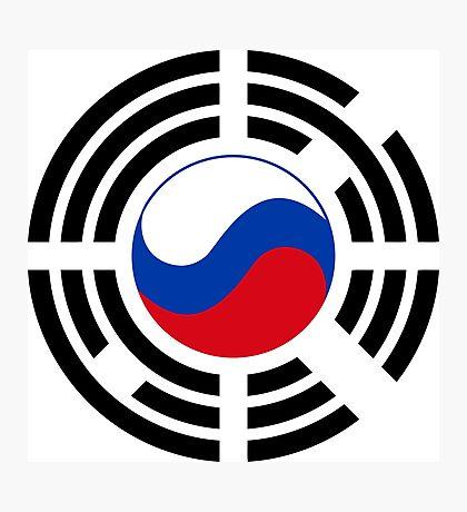 Korean Russian Multinational Patriot Flag Series Photographic Print